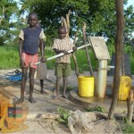 Borehole in use